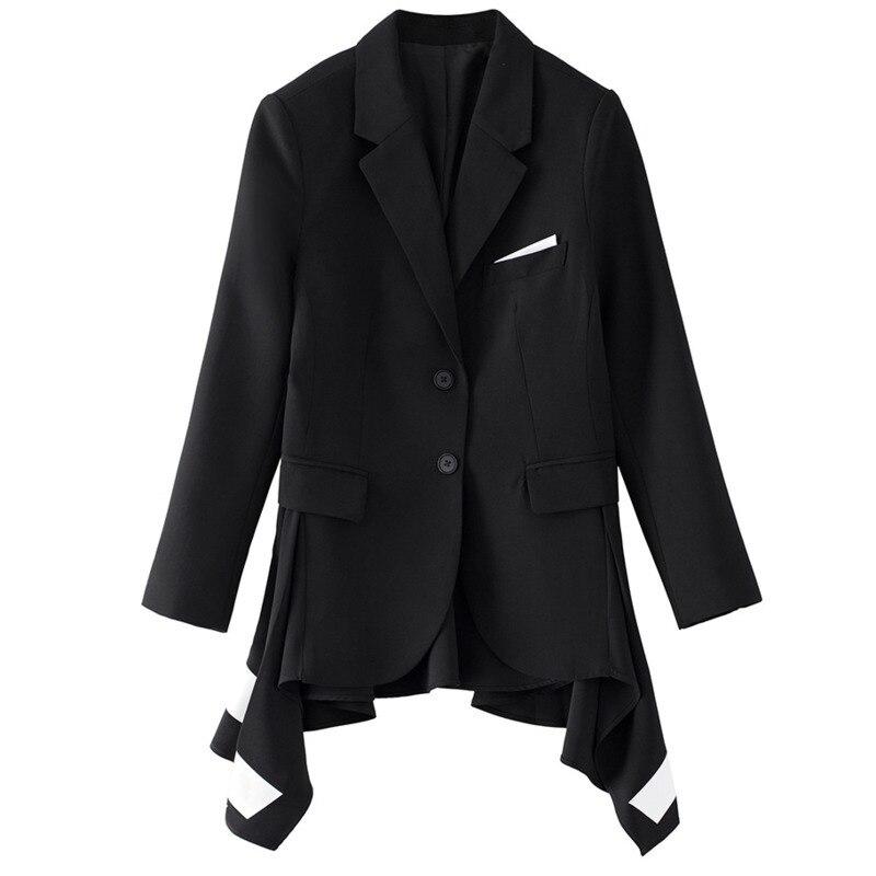 Nouvelle Arrivée D'aronde Mode Femmes Black Contraste Col Blanc Pad Vêtements Kb246 Queue Et Automne Épaule Mince qlzw down Noir 2018 Turn vtwnCwIEq