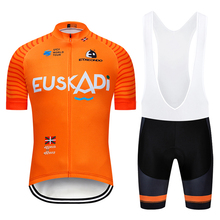 2019 команда EUSKADI Оранжевый PRO Велоспорт Джерси нагрудники шорты для женщин Костюм Ropa Ciclismo мужские летние быстросохнущая велосипедный майон одежда