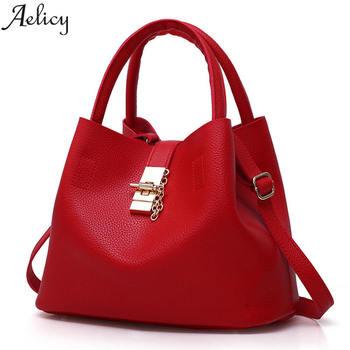Aelicy New Large Capacity Women Handbags PU Leather Bags Women Composite Bag Set Designer High Quality Shoulder Bag Vintage grande bolsas femininas de couro