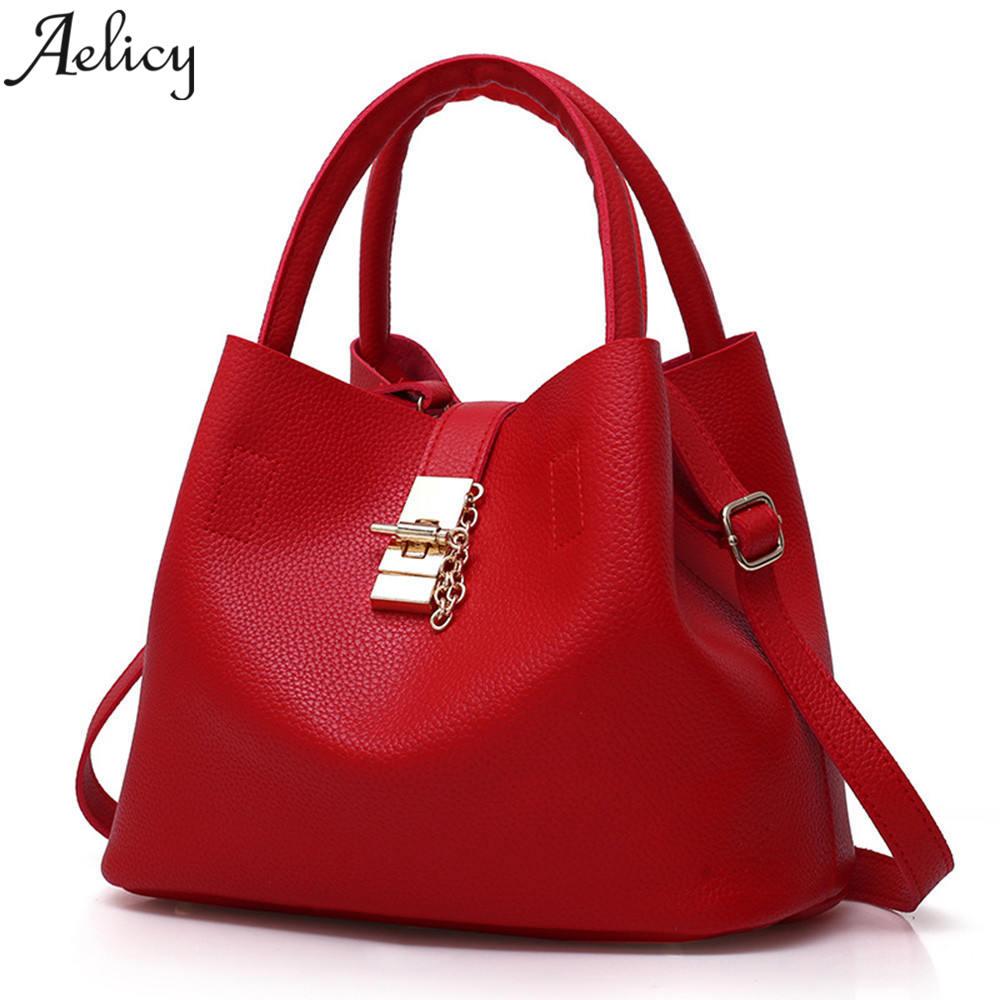 Aelicy New Large Capacity Women Handbags PU Leather Bags Women Composite Bag Set Designer High Quality Shoulder Bag Vintage цена