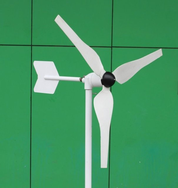 Small Wind Turbine For Home Use Part - 31: Small Wind Turbines /Generator 100W/ DC 12V With Built-in Controller/ 3