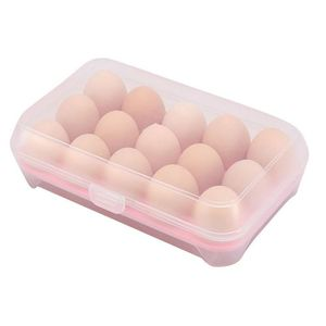 Image 5 - البيض الثلاجة الطازجة مربع 15 بيضة بلاستيكية رف المطبخ البيض حاوية تخزين المواد الغذائية كفاءة البيض موزع صندوق تخزين