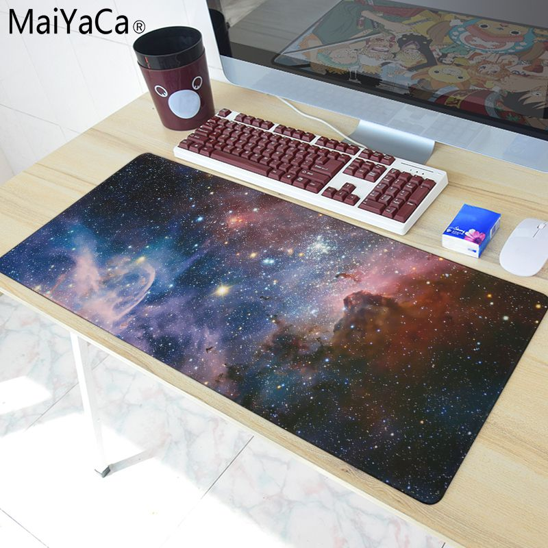 MaiYaCa Sky Mouse Pad 900x400x2mm Pad to Mouse Notbook Computer Mousepad HD Print Gaming Padmouse Gamer to Mouse Mouse Mat кабель minijack minijack supra mp cable 3 5 mm 0 8 m