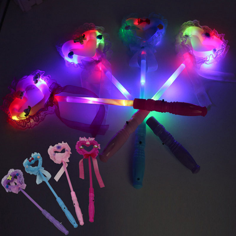 Novelty & Special Use Costumes & Accessories Novelty Love Heart Led Glowing Flashing Sticks Children Blinking Fairy Wands Wedding Birthday Party Favor Gift Halloween