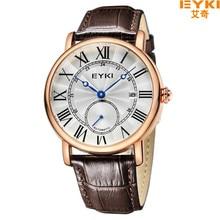 2016 EYKI Marca de Lujo de Los Hombres Clásicos Relojes Mecánicos de Cuero Genuino Impermeable Reloj Relojes Relogio masculino Hora EET 8820