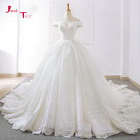 Jark Tozr 2018 New Arrive Off The Shoulder Short Sleeve Gorgeous Princess Ball Gown Wedding Dresses Vestidos De Noiva Princesa