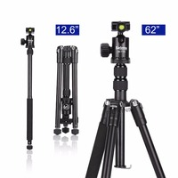Selens 150cm/62 Black Professional Tripod Photography Monopod for DSLR Camera Portable Lightweight Travel Tripod Stand