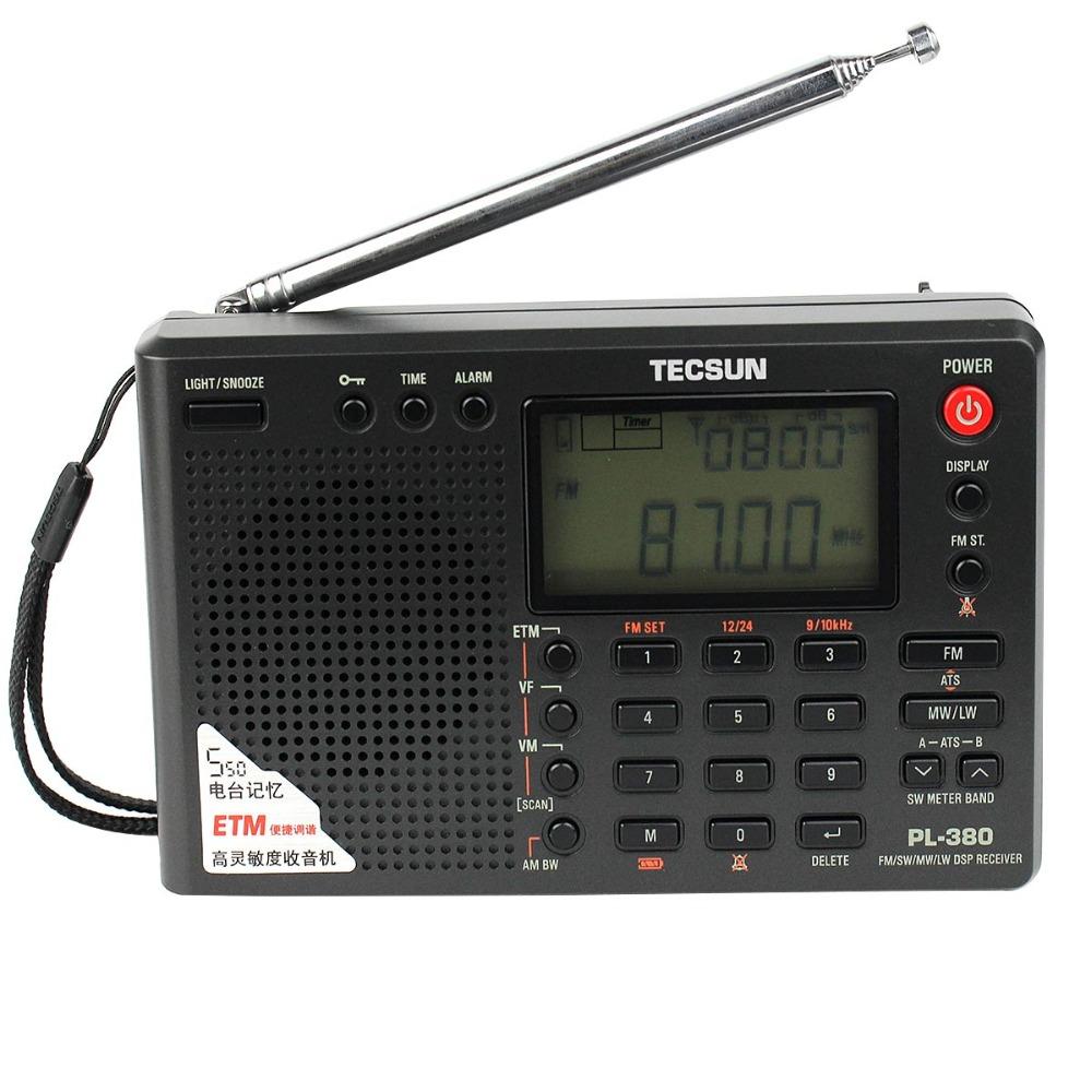Prix pour TECSUN PL-380 DSP Radio FM MW SW LW Multibande Radio Récepteur Horloge Alarme + Extérieure FM & SW Radio Station antenne Y4130A