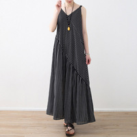 Nefeilike Summer Rompers Womens Jumpsuit Fashion Striped Long Playsuit Casual Loose Sexy Backless Oversized Overalls Plus Size