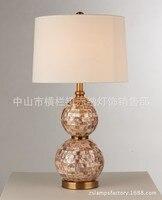 Туда 38X70 см Бесплатная доставка Творческий натуральный основа ремесел настольная лампа Гостиная Спальня украшения настольная лампа большо