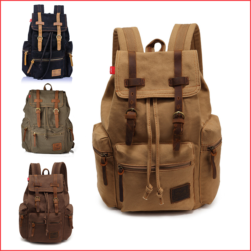 New Fashion Casual Canvas Travel Backpack School Men Women Boys Girls  Bookbags Large Capacity Sports Bag Bags Backpacks-in Backpacks from Luggage    Bags on ...