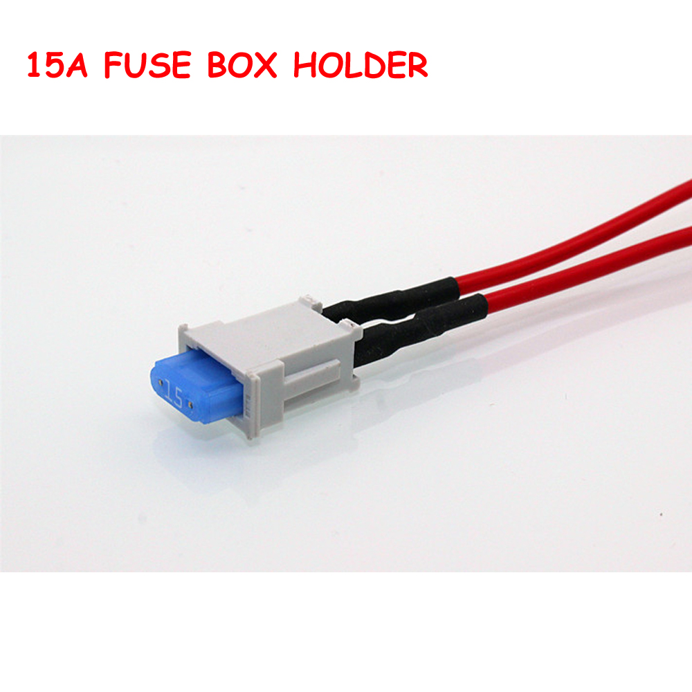 electrical fuse box wiring promotion shop for promotional 5 kits 1 way small ato blade fuse box block holder 15a fuse blade and 12cm electrical wire pbt