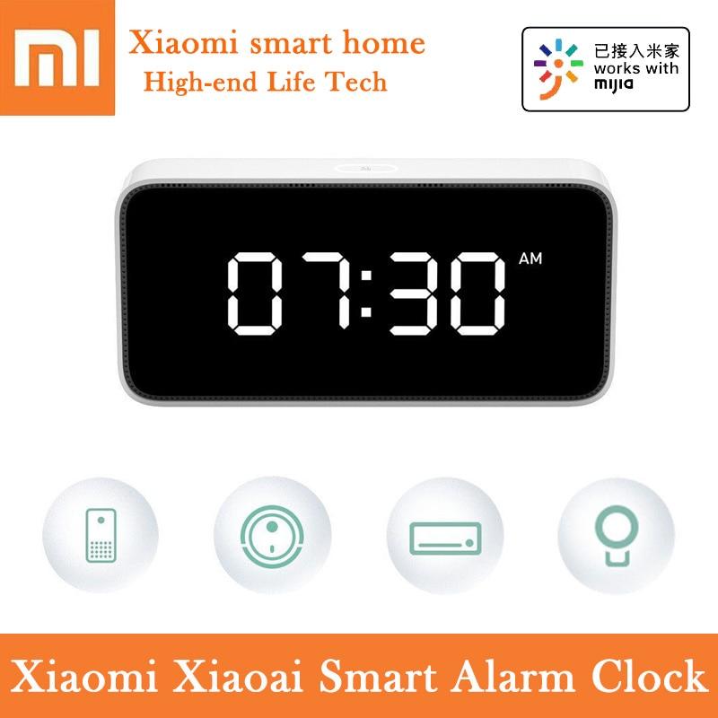 Original Xiaomi Mi Xiaoai Smart Alarm Clock Digital Display Voice Remind Automatic Light Sensing Smart Control Mijia Smart Home