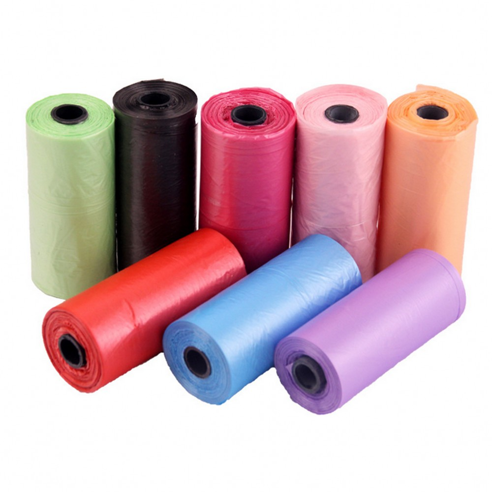 3 8 13 Rolls/Pack 195pcs Pet Dog Garbage Clean-up Bag PE Puppy Cat Poop Cleaning Bag For Pet Outdoor Waste Poop Pick Up Bags(China)