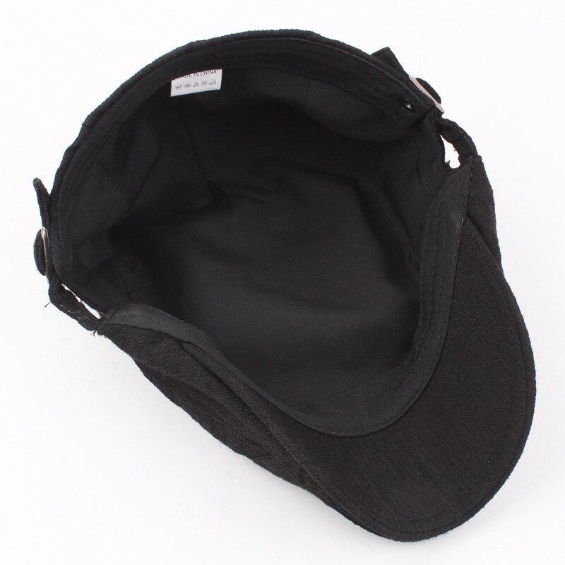 Vintage Cotton Linen Flat Cap 5