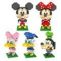 Dibujos animados de Mickey Minnie Donald Duck Daisy Goofy Nano Regalo Juguetes Educativos Bloques de Construcción Para Niños de Ladrillo