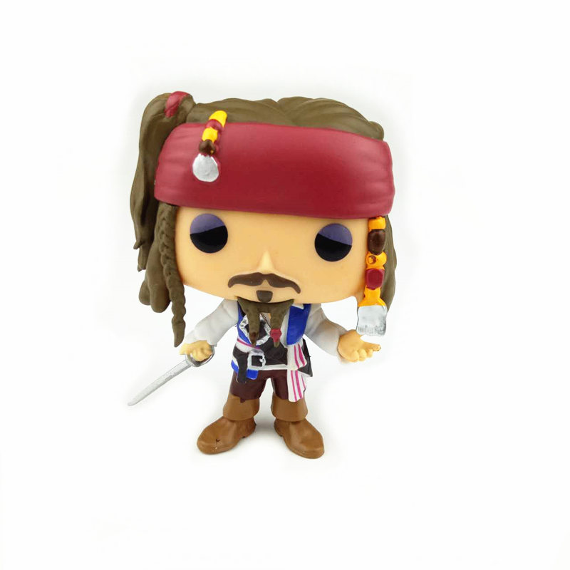 NEW 10cm Captain of the Caribbean Pirates Jack action figure Bobble Head Q Edition no box for Car Decoration