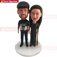Personalized Wedding Cake Topper Custom Bobble Head Clay Figurine Based on Customers' Photos Anniversary Gift Wedding Gift Valen