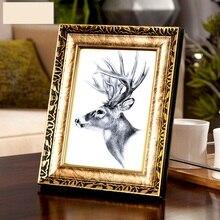 Marco de fotos Vintage de calidad de 4 colores marco de fotos de oro decoración del hogar de Europa marcos de fotos de boda Retro regalos decoración de escritorio