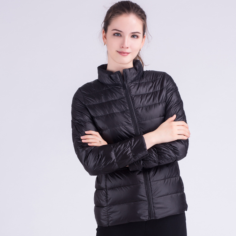 New Women/'s Ultra-light Duck Down Knee Long Jacket Coat Lapel Slim Fit Warm Chic