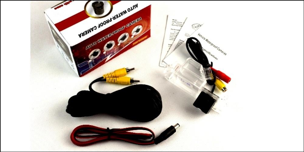 Car Camera For Hyundai Verna  Accent Blue  Fluidic  Solaris  Grand Avega  i25 Rear View Back Up Camera For  RCA Package