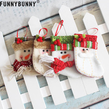 FUNNYBUNNY Christmas Socks Gift Bags Stocking Xmas Santa Ornament Candy Claus snowman