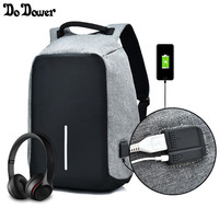 Anti Theft Backpack Male Schoolbag Backpack For Teenagers Girls External USB Charging Laptop Backpack Women Travel