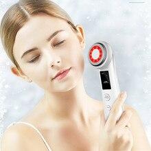 4 в 1RF радиочастоты LED красный свет терапия EMS лифтинг ультразвуковой вибрационный массаж тонкое  Лучший!