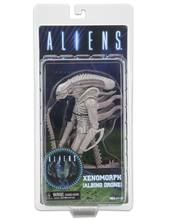 "18 centímetros NECA ALIENS Xenomorph Series 9 Albino Zangão Conceito Branco PVC Action Figure Toy Collectible Modelo 7 ""Com caixa Original(China)"