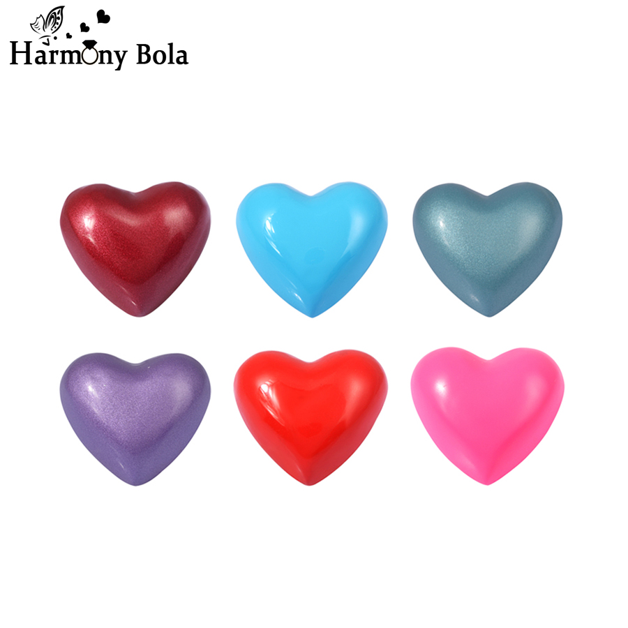 30PCS/Lot Heart Belly Bola Jewelry 20MM Eudora Harmony Bola Ball Musical Sounds Chime Ball Fashion Trendy Style Wholesale
