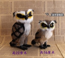 lovely simulation owl toy  polyethylene & furs cute owl model doll