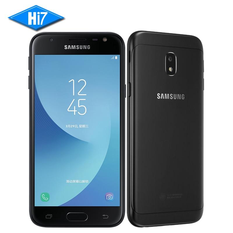Nueva original samsung galaxy J3 2017 J3300 5.0 pulgadas 3 GB RAM 32 GB ROM Snapdragon Android 6.0 fingerprint teléfono móvil