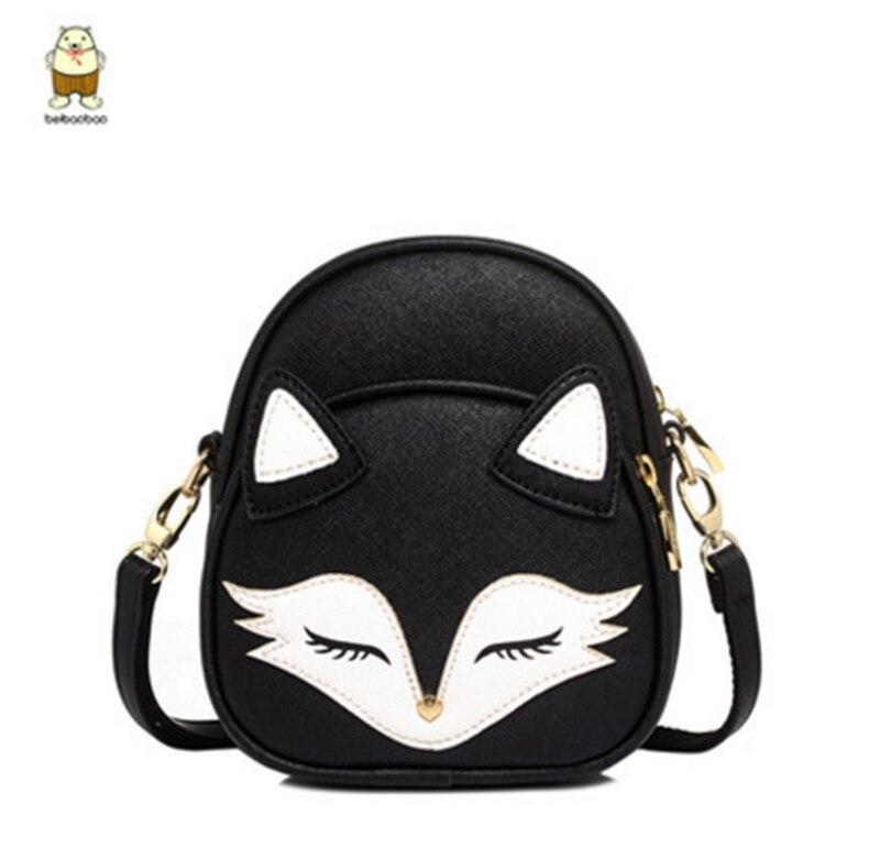 Hot New 2017 Cute Cat Shoulder Bags Fox Face Women Baby Girl Mini Bags For Women Cross Body lolita bag high quality юбка arrow dan mini lolita