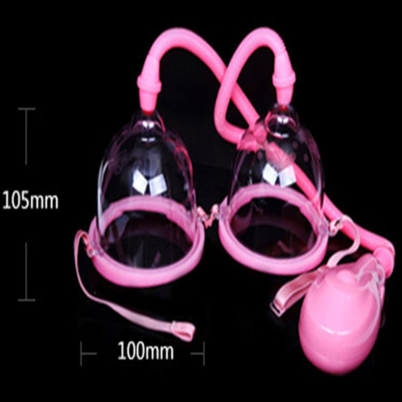 Electric Female Breast Pumps Enlargement With Twin Cups, Air Chest Pumps Massager Enhancer Sex Products Adult Toys For Women - S free shipping factory sale portable adult female vacuum breast enlargement breast nipple enhancer machine with 6 cups for home