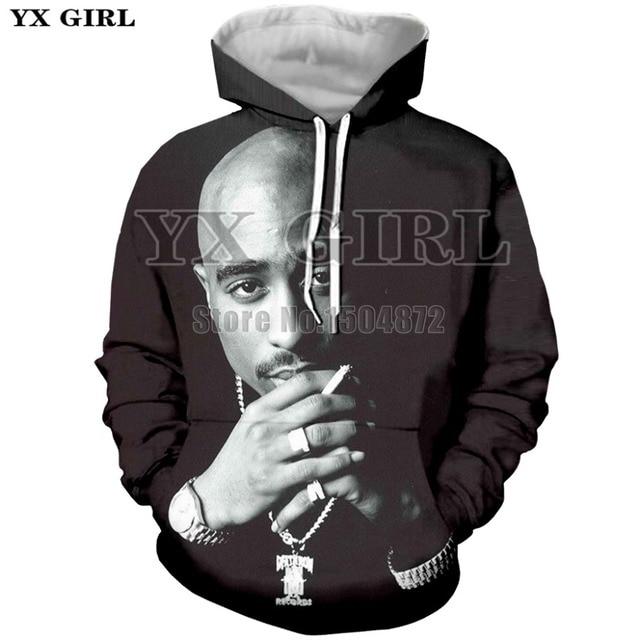 7a5c48cd6 Drop Shipping Harajuku Mens 3D Print Hoodie 2pac tupac Hoodies Men  Sweatshirt Long Sleeve Thug Life Tupac Shakur Tracksuit Tops