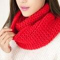 2017 Nova Venda Quente! Unisex Outono Inverno Tricô de Lã Collar Warmer Anel Xaile Do Lenço de Pescoço Envoltório Mulheres Lenços Sq321 Lic