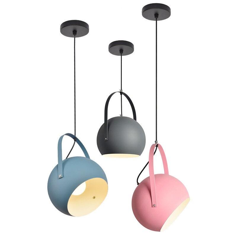 LukLoy Modern Colourful Pendant Light Pendant Lamp Cord Lamp for Livin Room Kitchen Island Pantry Foyer Bedroom Shop Cafe Bar