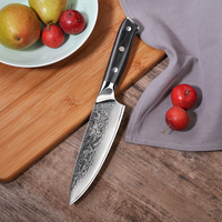 SUNNECKO Premium 6.5 inch Chef Knife Damascus Steel Kitchen Knives Japanese VG10 Core Blade G10 Handle Meat Fruit Cutter Tool