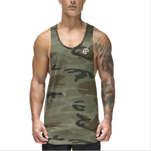 Summer Men's Muscle Gym Tank Top Body Training Engineers Sports Vest T Shirts Men Cotton Solid Seamless Brand Clothing