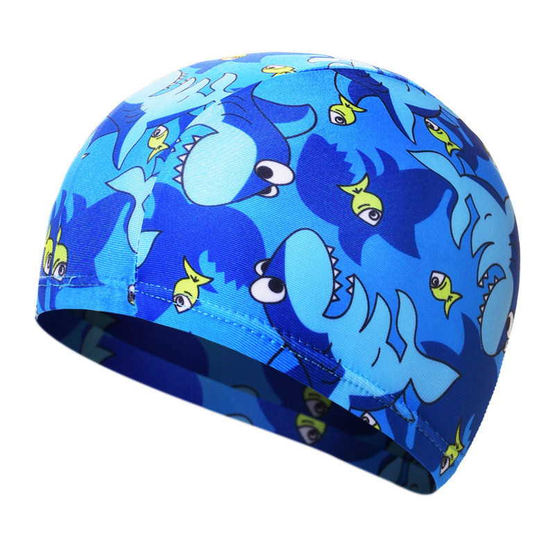 Swimming Caps Elastic Lovely Cartoon Fabric Cute Animal Pattern Printed Protect Ears Hat Women Kids Boys Girls Swim Pool Cap 0.2