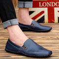 DreamShining Men Leather Shoes Casual Genuine Leather Shoes Men Oxford Lazy Shoes Breathable Leisure Outdoor Work Shoe