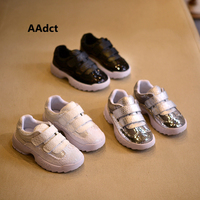 AAdct 2018 Sequins Girls Shoes Spring New Toddler Baby Girls Shoes Brand Running Sports Little Kids