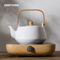 220V Japanese Electronic Tea Stove Heater + Teapot Set Warmer Electric Ceramic Heaters Kit for Coffee Tea Cup Mug Teacup Kettle