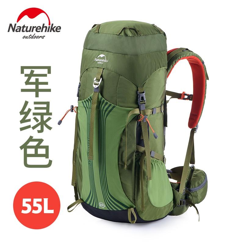 Naturehike 55L 65LOutdoor Backpack rucksack large Sport Travel Hiking Camping Large Backpack Professional Mountaineering Bag