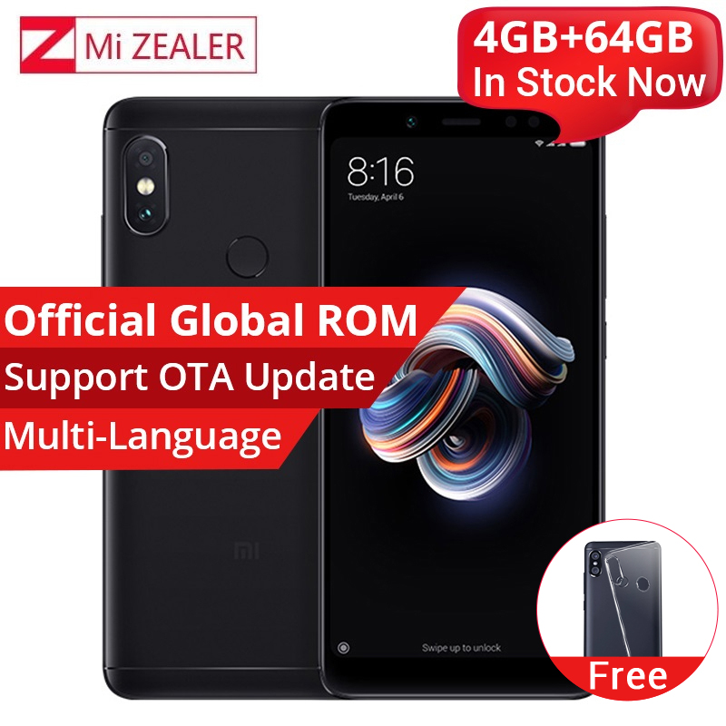 Original Xiaomi Redmi Note 5 4GB 64GB Smartphone Snapdragon 636 Octa Core 2160x1080 5.99 Inch 4000mAh 12MP Dual Camera  MIUI(China)