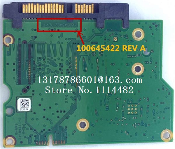 hard drive parts PCB logic board printed circuit board 100645422 for Seagate 3.5 SATA hdd ST1000DM003 <font><b>ST2000DM001</b></font> ST3000DM001 image