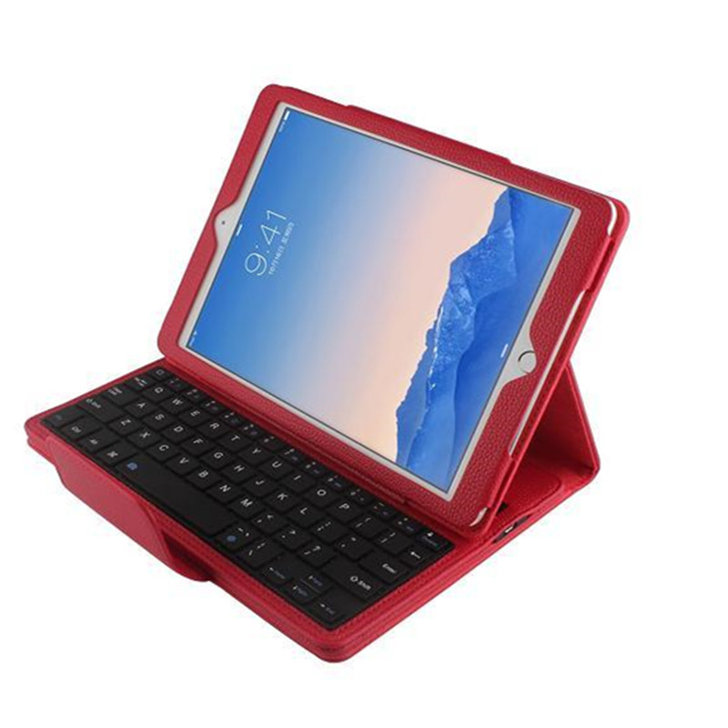 For Apple iPad air 2 keyboard Case Wireless Bluetooth 3.0 Detachable Wireless Bluetooth ABS Keyboard case for ipad 6 with Stand detachable official removable original metal keyboard station stand case cover