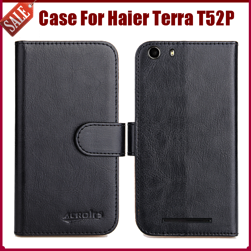 Hot Sale! Haier Terra T52P Case 6 Colors High Quality Flip Leather Protective Phone Cover For Haier Terra T52P Case