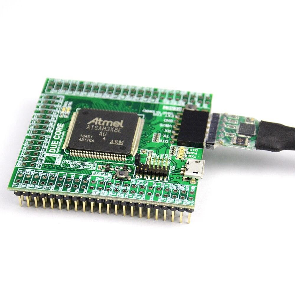 Купить с кэшбэком Due R3 Core For Arduino Compatible SAM3X8E 32bit ARM Cortex M3 Module UC-2102 512K Flash 96K RAM 12bit ADC 12bit DAC 84MHz