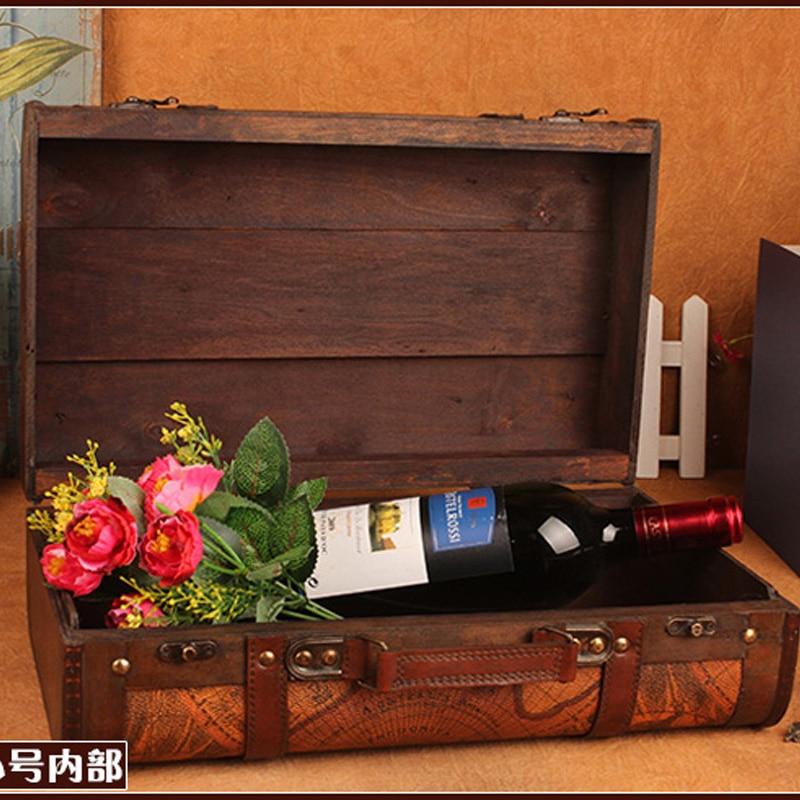 Gushifu Houten doos Europese koffer vintage doos Geschenk houten - Home opslag en organisatie - Foto 2
